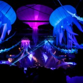 Futur Univers 14 - Tentacule Lycra -  Decoration  - Event Designer - Stage Design - Video - Light Design- Light Operateur - Light Show - Laser Show - Effets FX  - Impact-Vision